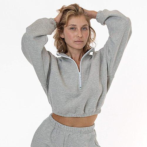 Los Angeles Apparel Cotton Fleece Pullover