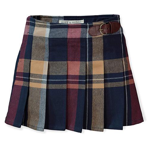 Hope & Henry Girls' Dressy Plaid Skirt