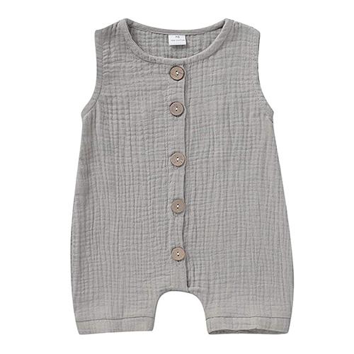 Infant Newborn Baby Boys Girls Cotton Linen Romper