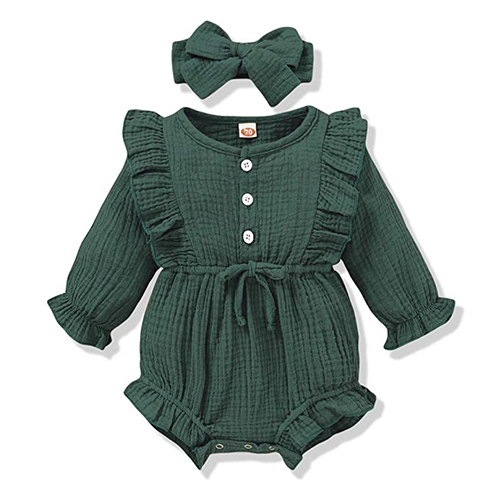 Renotemy Newborn Infant Baby Girl Rompers