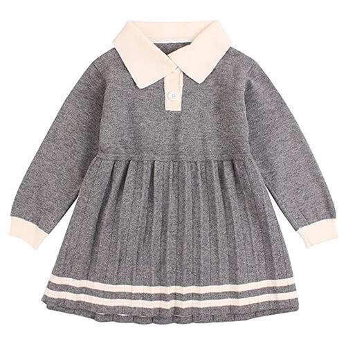 Ruffles Baby Girls Cardigan Sweater Dress