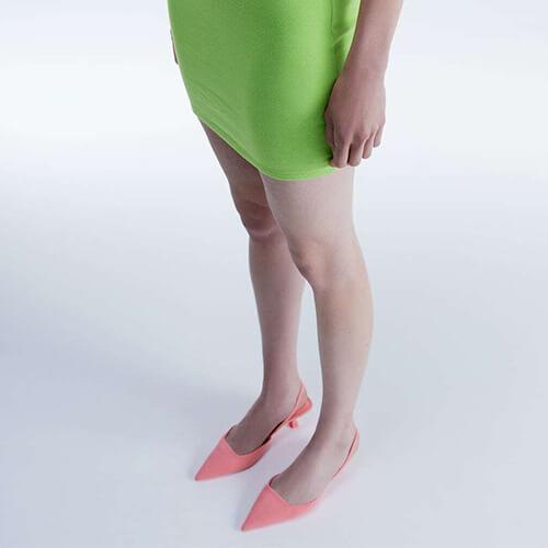 Zara Slingback Kitten Heel Shoes