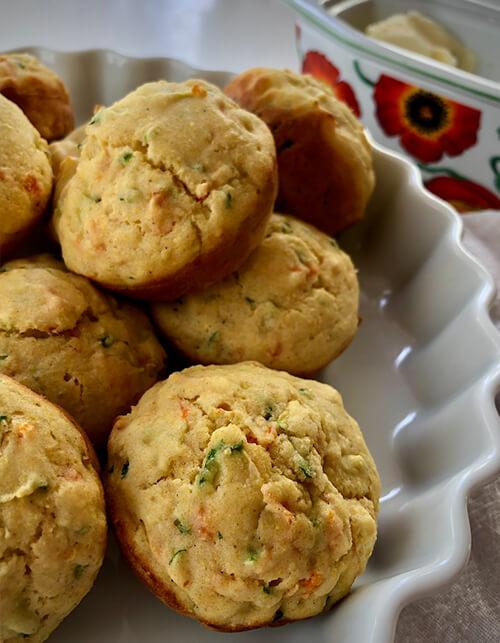 Zucchini Carrot Corn Muffins